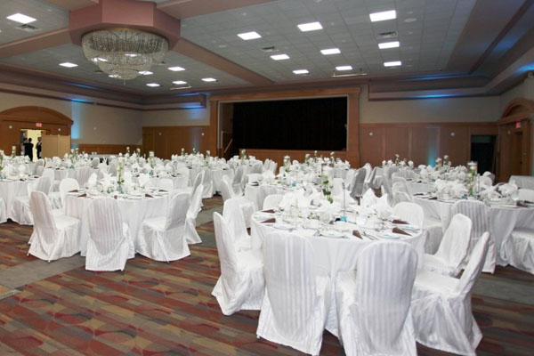 corporate event setup