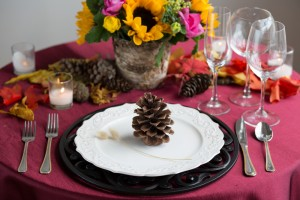 how to decorate for your fall wedding baquet centre